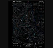 USGS TOPO Map New Jersey NJ Clementon 20110426 TM Inverted Unisex T-Shirt
