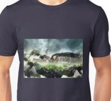 A German Armoured Cruiser Battling the Heavy Seas 1895 Unisex T-Shirt