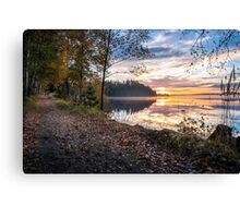 Lovely morning sunrise at the lake Canvas Print