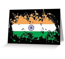 India Flag Ink Splatter Greeting Card