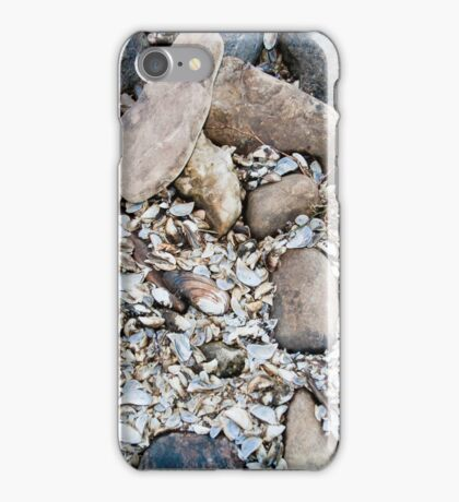 some stones with sand and shells  iPhone Case/Skin