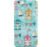 Beach Huts and Gulls iPhone Case/Skin