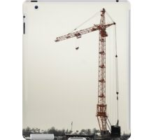 yellow crane in winter  iPad Case/Skin