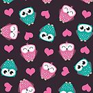 Owls and Hearts by Lisa Marie Robinson