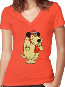 Cool Laughing Muttley  Women's Fitted V-Neck T-Shirt