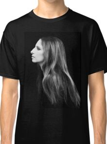 Barbra Streisand Profile Portrait | Mixed Media Classic T-Shirt