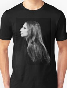 Barbra Streisand Profile Portrait | Mixed Media Unisex T-Shirt