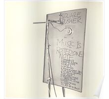 SQUAREPUSHER MUSIC IS ROTTED ONE NOTE Poster