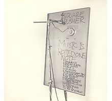 SQUAREPUSHER MUSIC IS ROTTED ONE NOTE Photographic Print