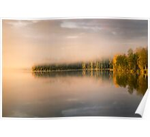 Beautiful morning light on the lake Poster