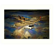 Saro Cloud A29 of the Royal Air Force Art Print