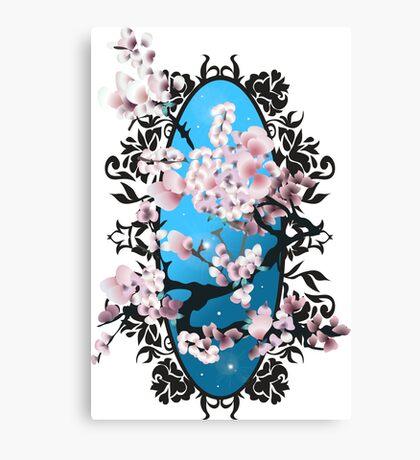 Blossom sakura. Vector illustration Canvas Print