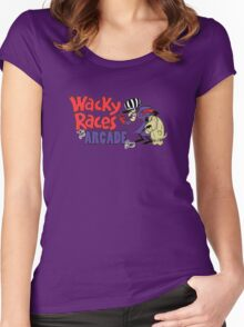 Wacky Races Arcade Game Women's Fitted Scoop T-Shirt