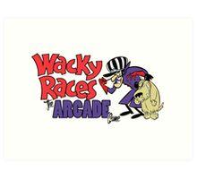 Wacky Races Arcade Game Art Print
