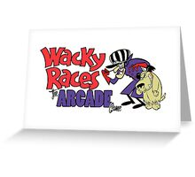 Wacky Races Arcade Game Greeting Card