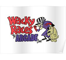 Wacky Races Arcade Game Poster