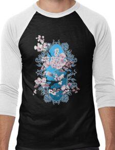 Blossom sakura. Vector illustration Men's Baseball ¾ T-Shirt