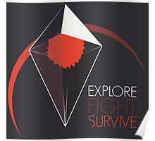 Explore, Fight, Survive – No Man's Sky Design Poster
