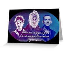 Great Men Are Forged in Fire, Doctor Who Greeting Card