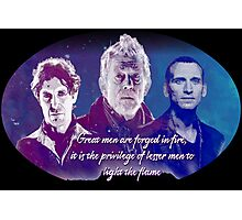 Great Men Are Forged in Fire, Doctor Who Photographic Print