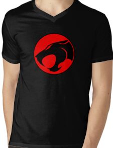 Thundercats Retro Cartoon Logo Mens V-Neck T-Shirt