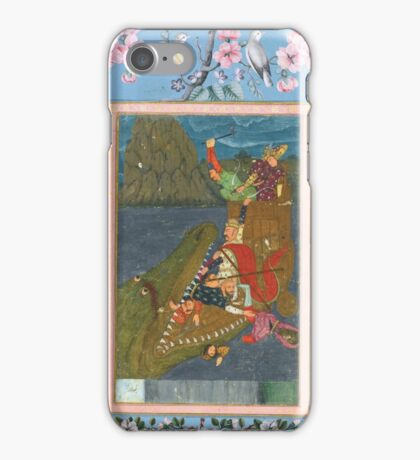 A sea monster swallowing a boat, India, Mughal, mid-17th century iPhone Case/Skin