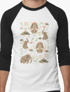 Cute mammoths Men's Baseball ¾ T-Shirt