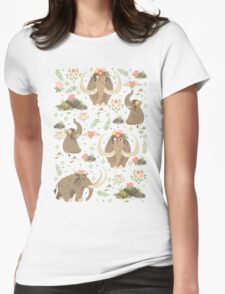 Cute mammoths Womens Fitted T-Shirt
