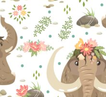 Cute mammoths Sticker
