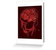 Functional Anatomy of the human brain Greeting Card