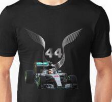 Lewis Hamilton 2016 F1 car driving Unisex T-Shirt