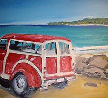 Classic Car 1953 Traveller  by gillsart