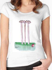 England Cricket Bails - tony fernandes Women's Fitted Scoop T-Shirt