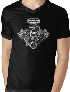 Cartoon Turbo Engine Mens V-Neck T-Shirt