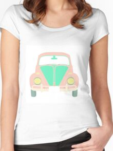 cute maggiolino car Women's Fitted Scoop T-Shirt