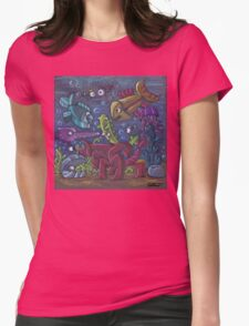Odd fish - color pastels Womens Fitted T-Shirt