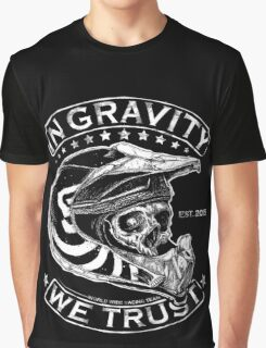 """Downhill Shirt """"In Gravity We Trust"""" Crypt Edition Graphic T-Shirt"""