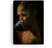 Ronda Rousey, Dont Be A DNB Quote (Superimposed) Canvas Print