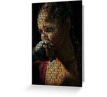 Ronda Rousey, Dont Be A DNB Quote (Superimposed) Greeting Card