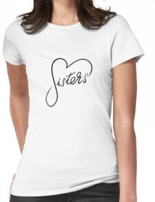 Sisters Heart Womens Fitted T-Shirt