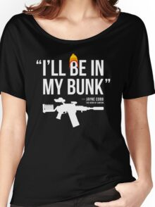 In My Bunk (white letters) Women's Relaxed Fit T-Shirt