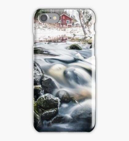 Riverside II (mood cottage on the river) iPhone Case/Skin
