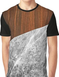 Wooden Marble Graphic T-Shirt