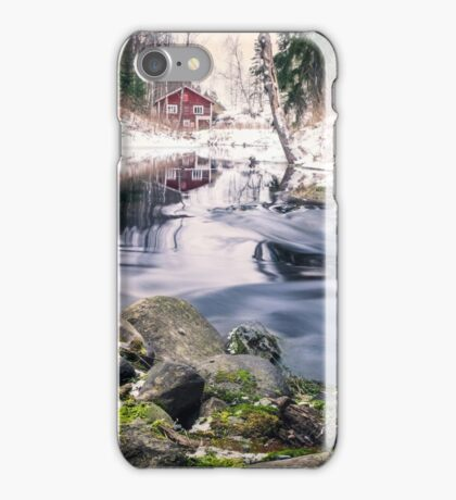 Riverside (mood cottage on the river) iPhone Case/Skin