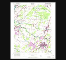 USGS TOPO Map New Jersey NJ Hightstown 254468 1954 24000 Unisex T-Shirt