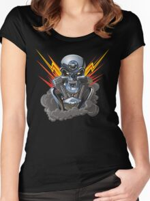 Cartoon Motorhead Women's Fitted Scoop T-Shirt