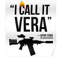 Jayne + Vera (black letters) Poster