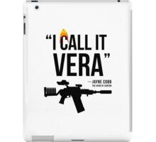 Jayne + Vera (black letters) iPad Case/Skin