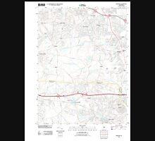 USGS TOPO Map New Jersey NJ Adelphia 20110412 TM Unisex T-Shirt