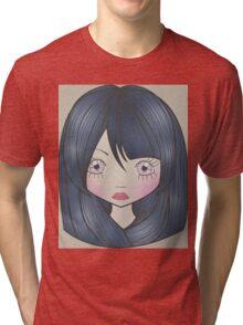 Dollhouse Girl Blue Tri-blend T-Shirt